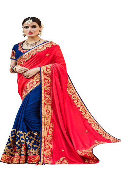 copy-of-red-royal-blue-half-and-half-saree-in-tussar-silk