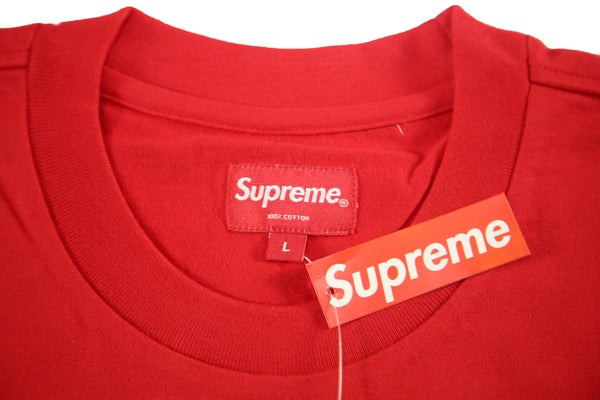 SUPREME S/S 17 Reflective L/S Tee - Red