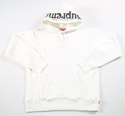 SUPREME S/S 17 Sick Mother Sick Child Hooded Sweatshirt - White