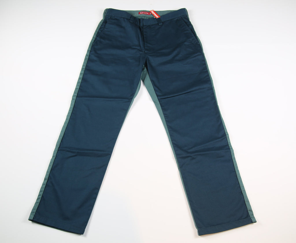 SUPREME S/S 17 Split Work Pant - Navy/ Green