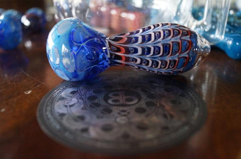 Red, White and Blue Web Hand Pipe