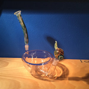 Prototype Cereal Bowl Pipe in Pink with Drops of Jupiter Accessories