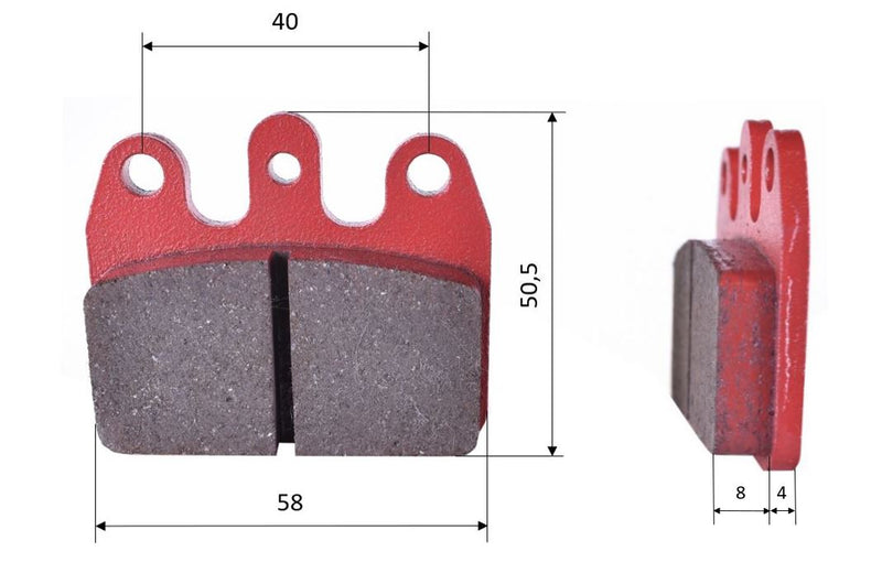 CRG VEN REAR BRAKE PADS