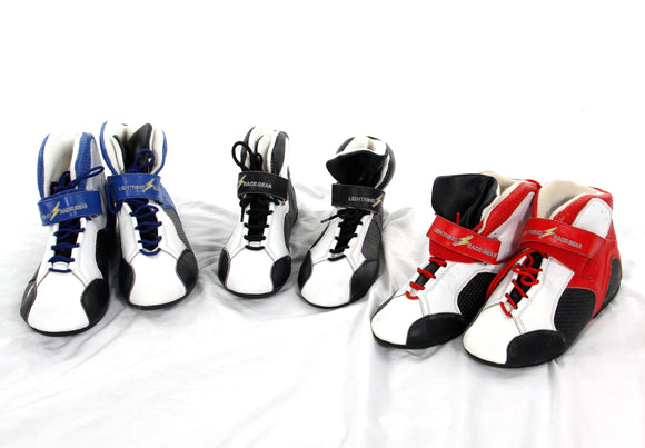 Kart Boots end of line sell out - Black, blue and red options.