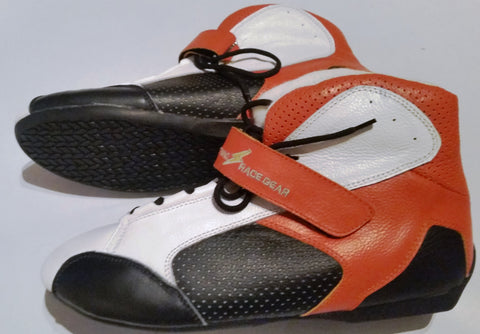 Kart Boot Leather Nomex (LRG05)  Orange  End of Line clearance