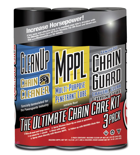 Maxima Chain Care Kit featuring Syn Chain Guard - Increase Horse Power