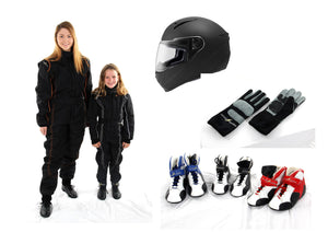 Kids intro to karting combo pack save $$$$$ - limited sizes left