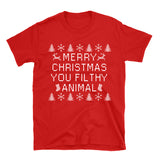 Merry Christmas You Filthy Animal - Funny Christmas Tee