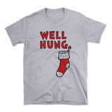 Well Hung Stocking - Funny Holiday Tee