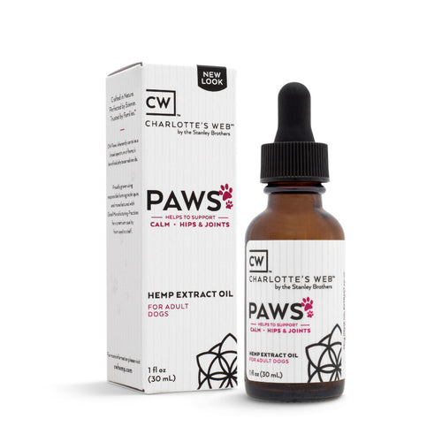 Charlotte's Web (CW) Paws CBD Hemp Oil For Dogs Pets