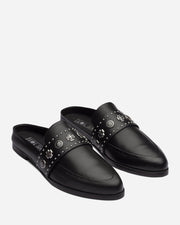 Tuesday Slide Black Western Stud