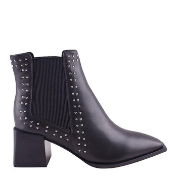 Atticus Boot Black Stud