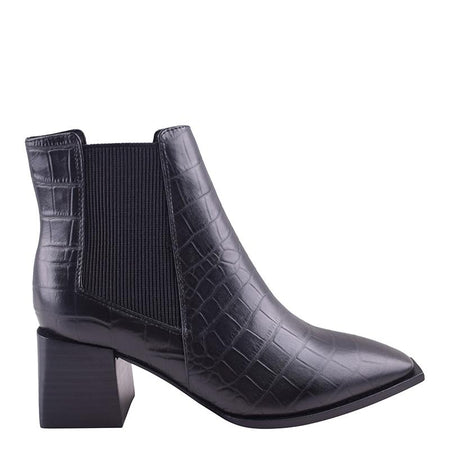 Atticus Boot Black Croc