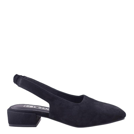 Avalon Flat Black Suede