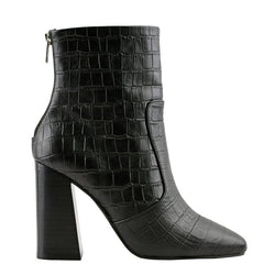Celeste Black Crocodile Boots