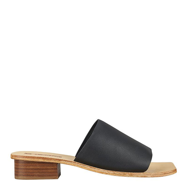 Cathy Mule Black Leather