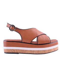 Cory Wedge Tan