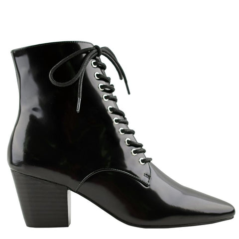 Eleanor Boot II Gloss Black - Sol Sana Australia