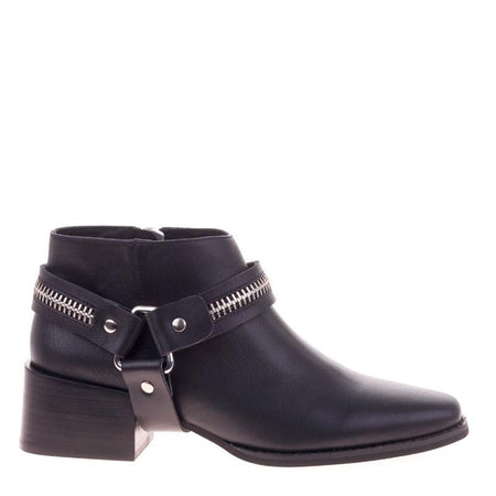 Eddie Boot Black Zip