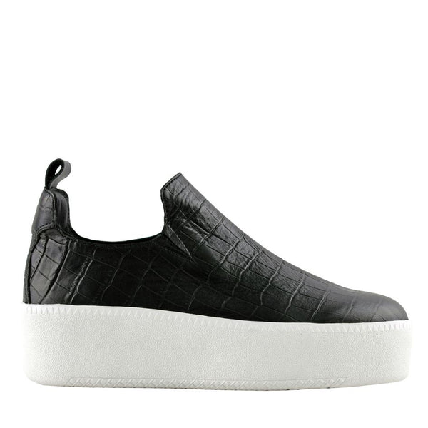 Finley Black Crocodile Sneakers