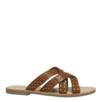 Irene Slide Tan Croc