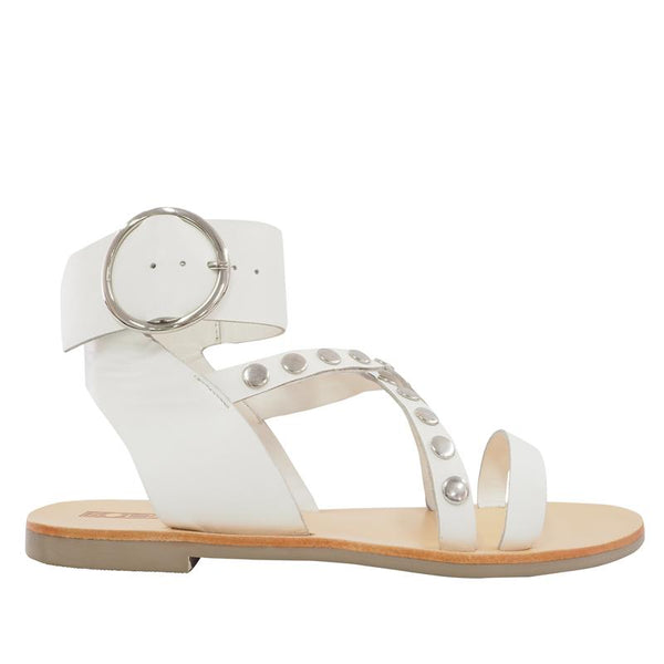 Isabel White Sandals