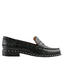 Lloyd Black Crocodile Loafers