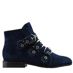 Maxwell Navy Suede Boots