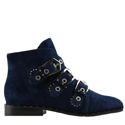 Maxwell Navy Suede Boots - Sol Sana Australia