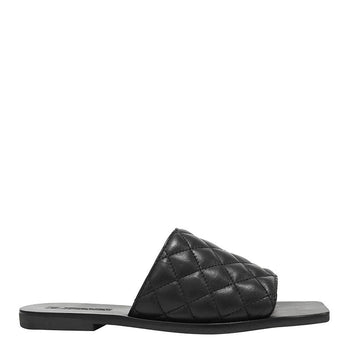 Mila Quilt Slide Black
