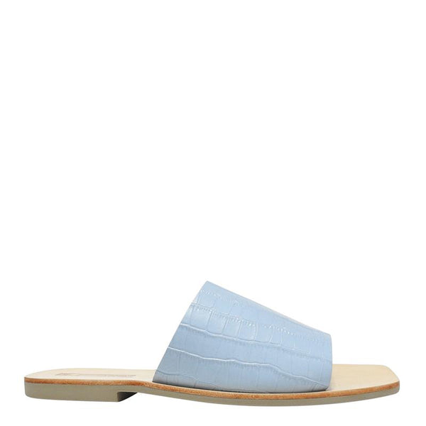 Mila Slide Blue Croc
