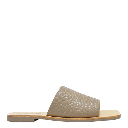 Mila Slide Taupe Embossed
