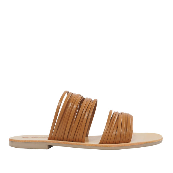 Millie Tan Round Toe Slides