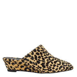 Monique Stretch Leopard Wedges
