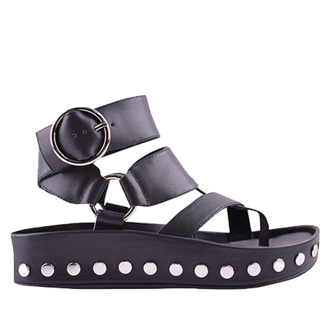 Polly Black Wedges - Sol Sana Australia