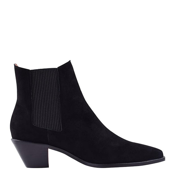 Roger Boot Black Suede