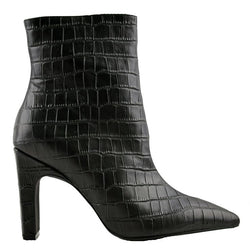 Scottie Black Crocodile Boots