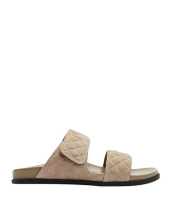 Nate Wedge Taupe Suede