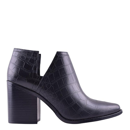 Stuart Boot Black Croc