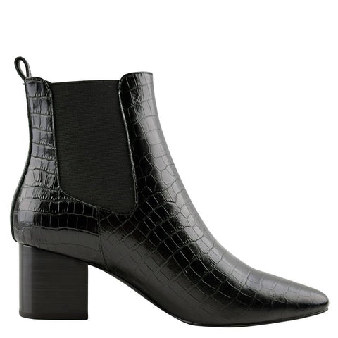 Teddy Boot Black Crocodile - Sol Sana Australia