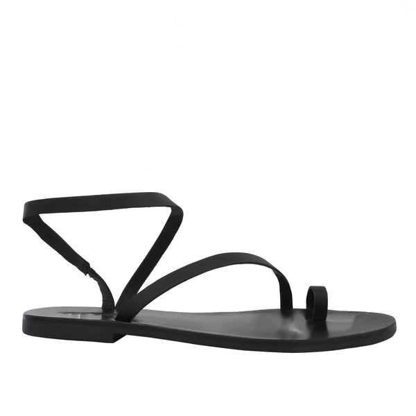 Tatty Round Toe Slide Black