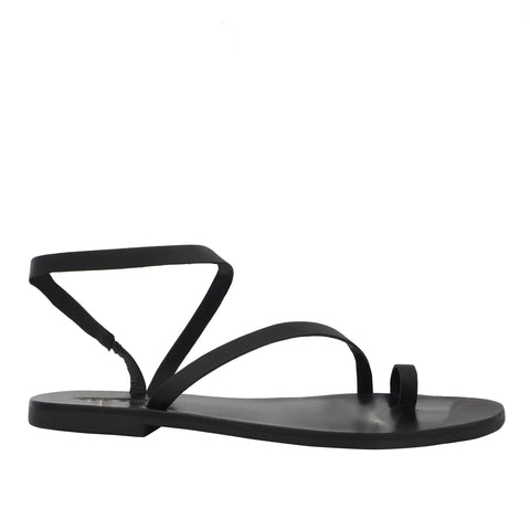 Tatty Round Toe Slide Black - Sol Sana Australia