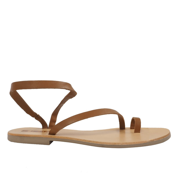 Tatty Round Toe Slide Tan