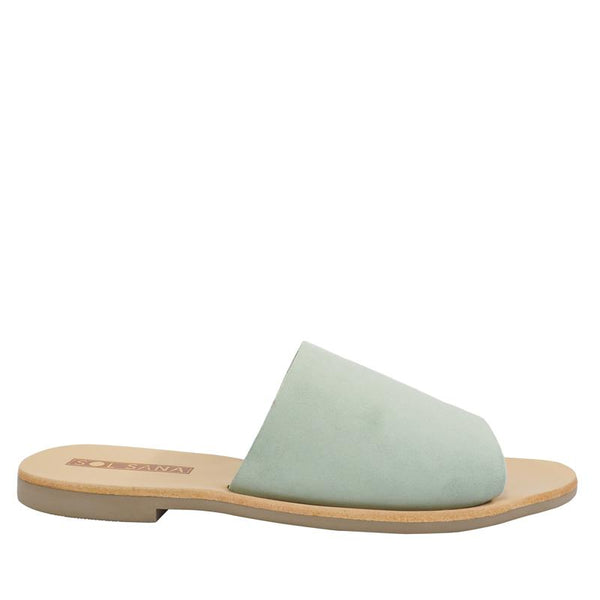 Teresa Slide Mint Foam Suede