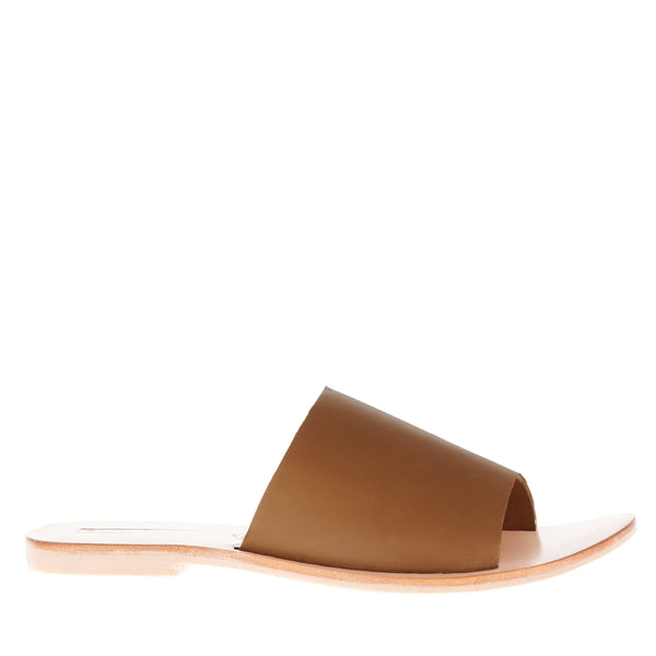 Teresa Slide Dark Tan