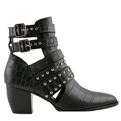 Willis Black Crocodile Boots