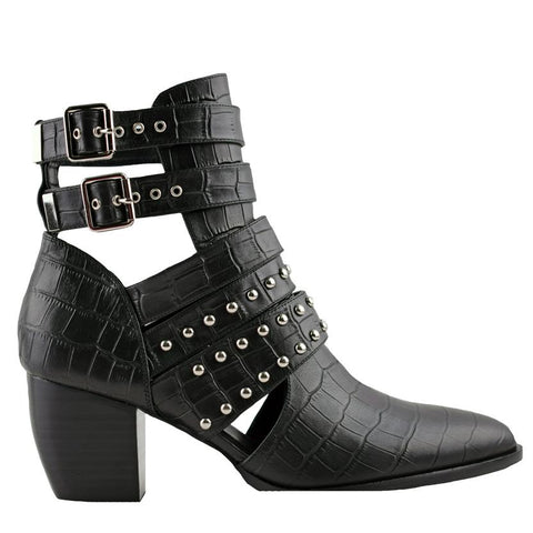 Willis Black Crocodile Boots - Sol Sana Australia