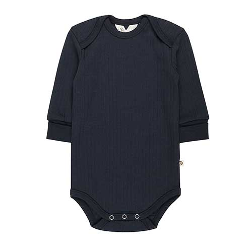 Müsli - Cozy langærmet body (navy)