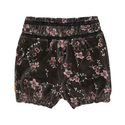 Hust&Claire - Hildur velour shorts (blomsterprint)