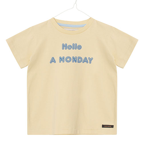 A Monday - Hello T-shirt (Banana Crepe)